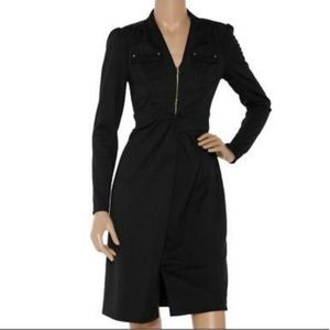 Kay Unger Black Military Style Sweater Dress